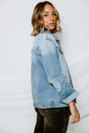 Jolie Distressed Denim Jacket