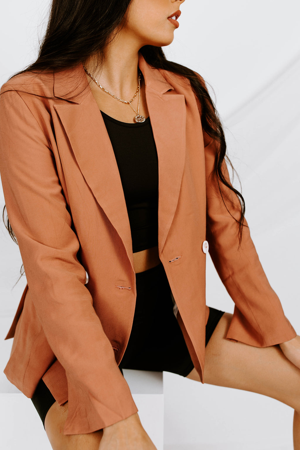 Get To Work Double Breasted Blazer