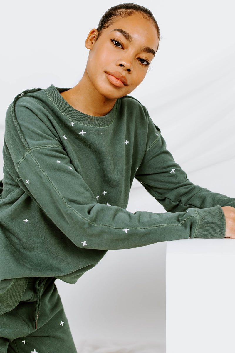 Dressed To Chill Embroidered Sweatshirt