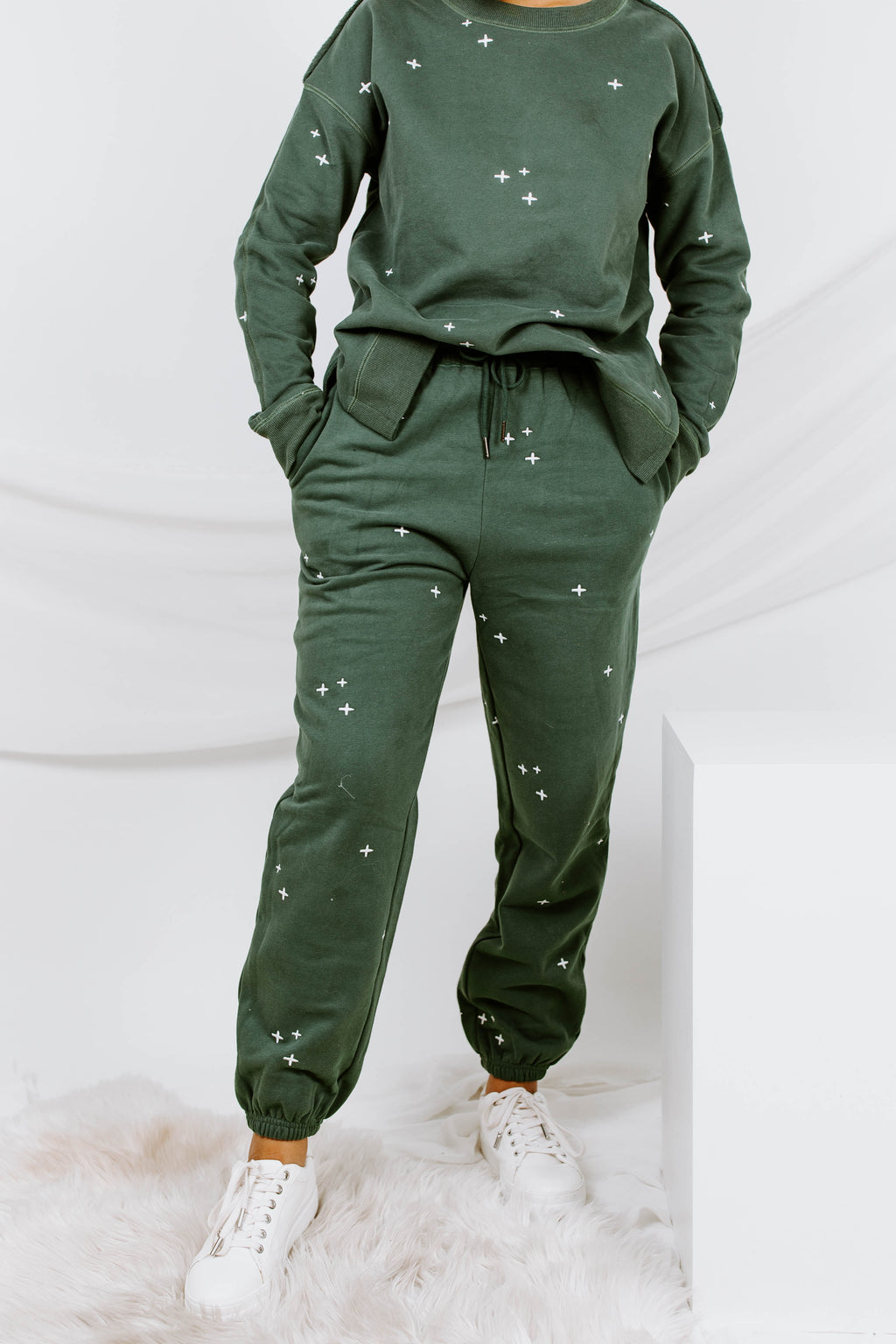 Dressed To Chill Embroidered Sweatpants