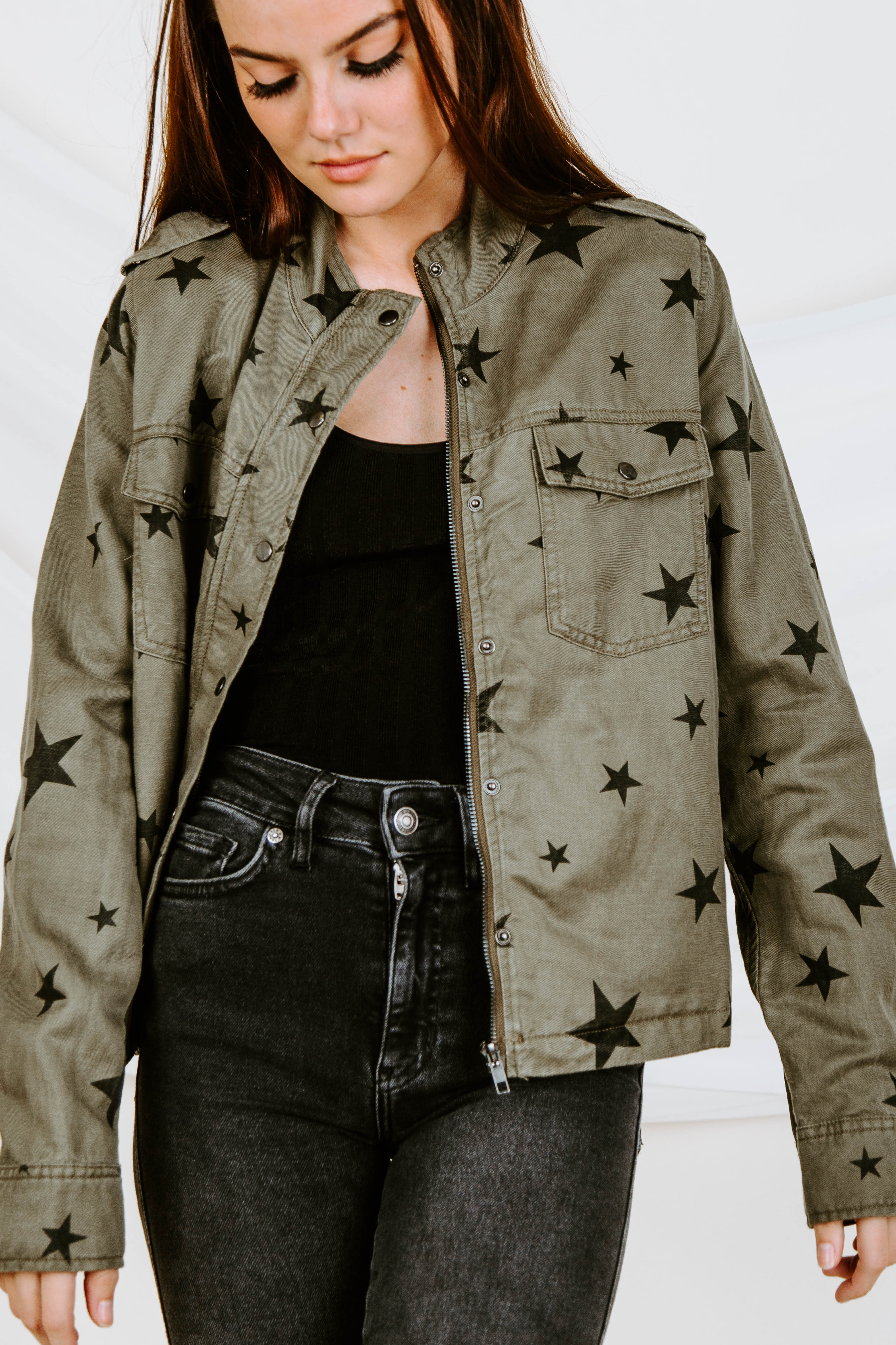 Starred Up Military Jacket