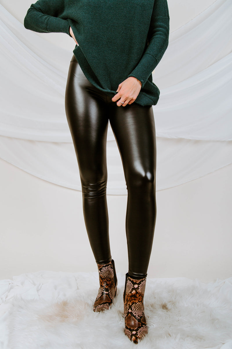 City Slick Faux Leather Leggings