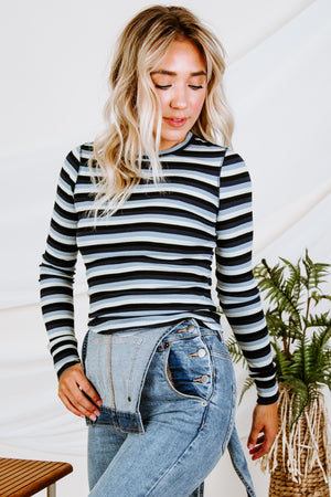 Z Supply Pamina Stripe Rib Top