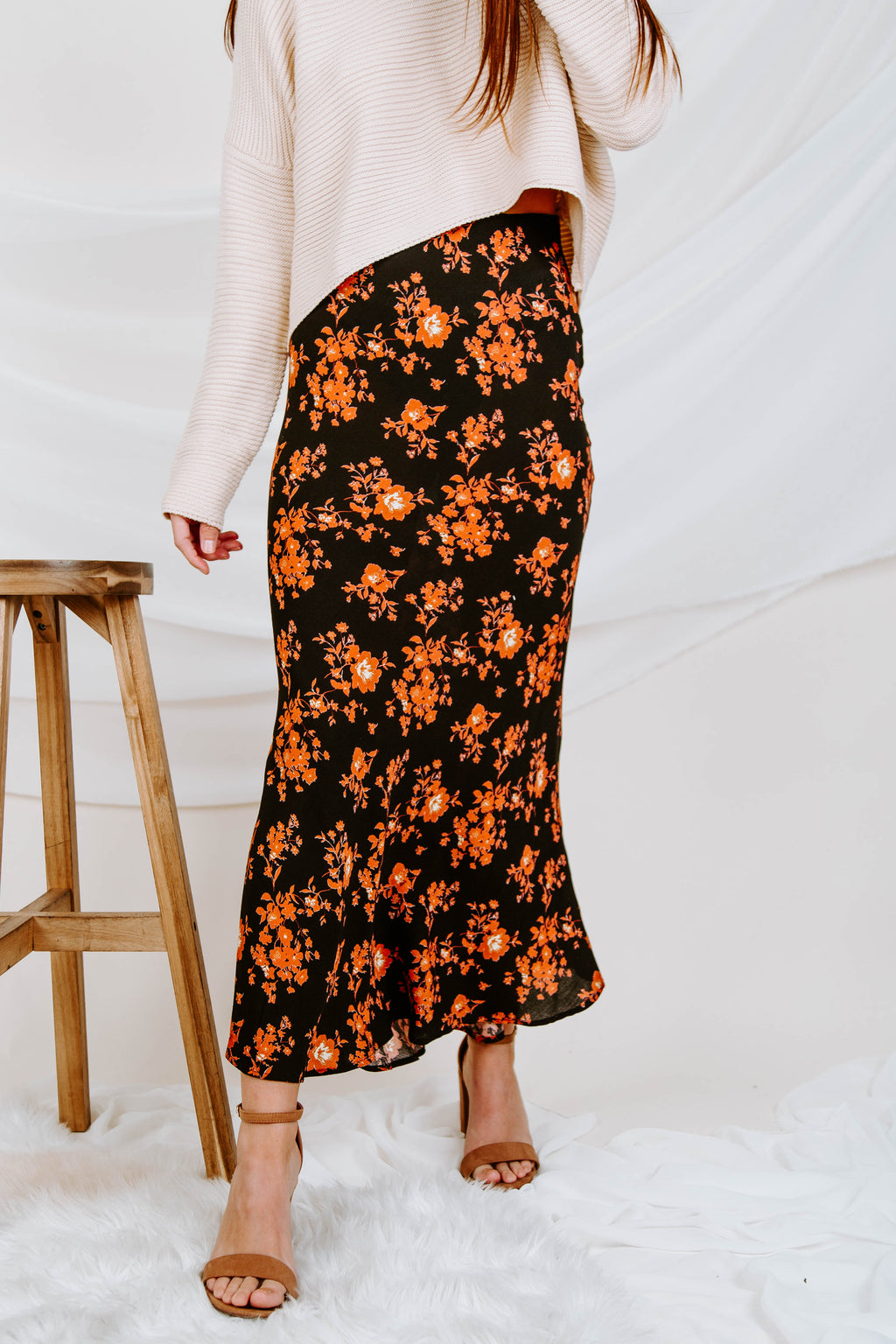 Late Bloom Floral Skirt