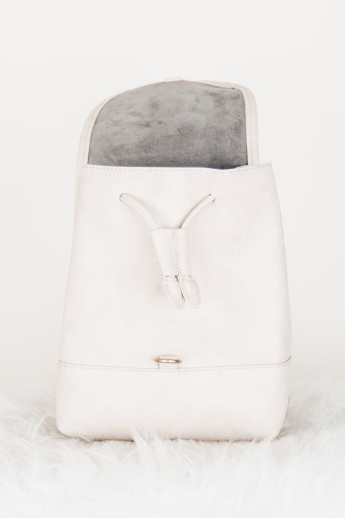 Ivory Buckle Detail Mini Backpack