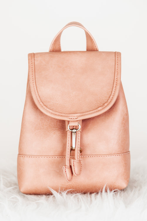 Blush Buckle Detail Mini Backpack