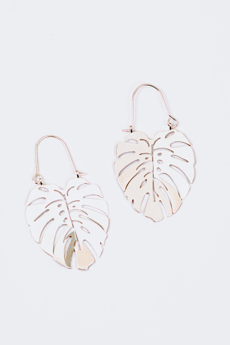 Kai Monstera Earrings