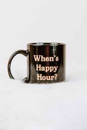 BRIGHTSIDE The Label When's Happy Hour Mug