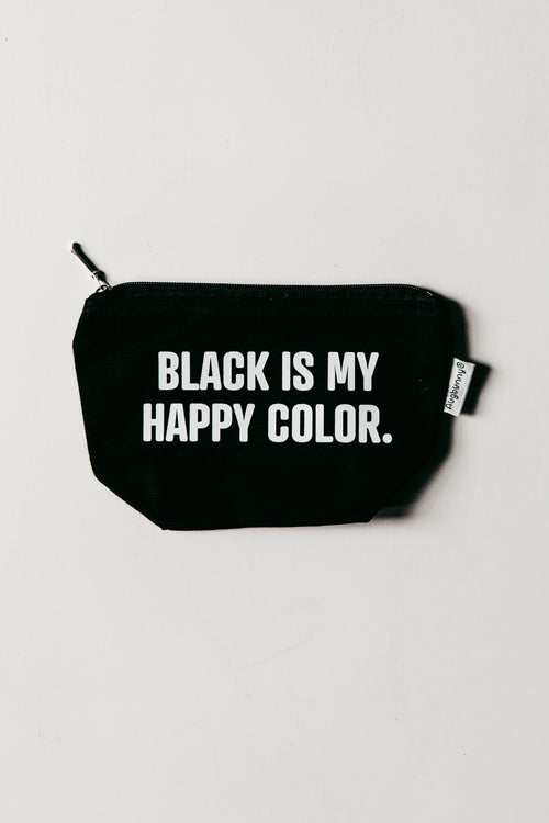 BRIGHTSIDE Black Is My Happy Color Pouch