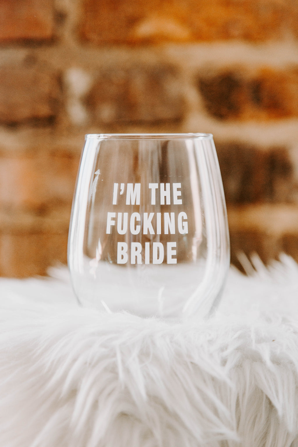 BRIGHTSIDE The Label I'm The Bride Wine Glass