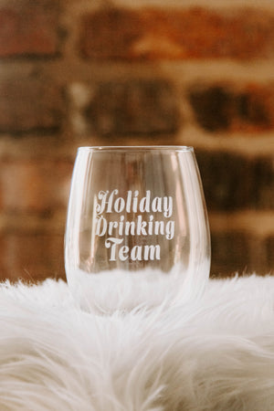 BRIGHTSIDE The Label Drinking Team Wine Glass