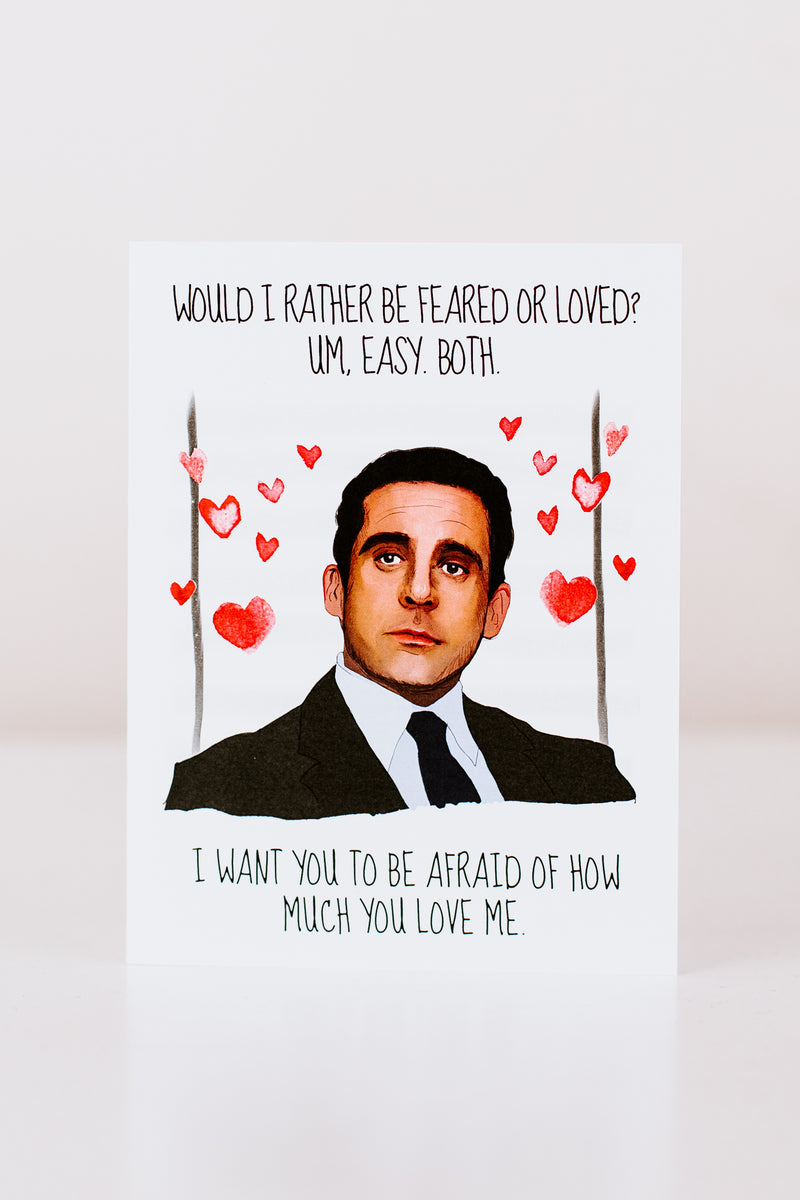 Feared Or Loved Greeting Card