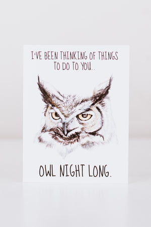 Owl Night Long Greeting Card
