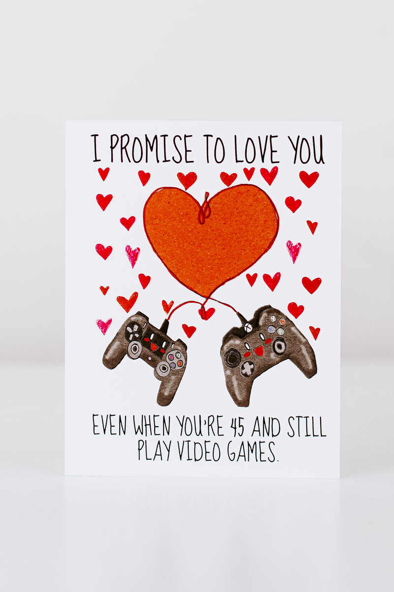 Promise To Love You Video Games Card