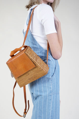 Mini Woodframe Satchel - SL630 - Ivory