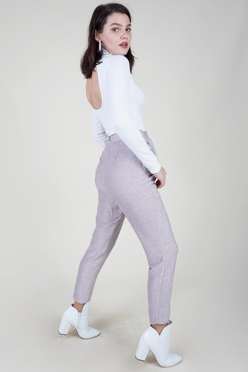 Lilac Disco Glitter Trousers