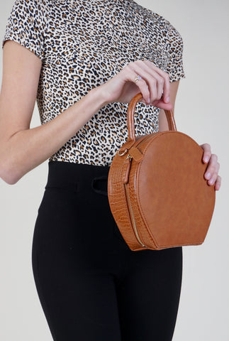 Canvas Print Tote - 9650 - Brown Leopard