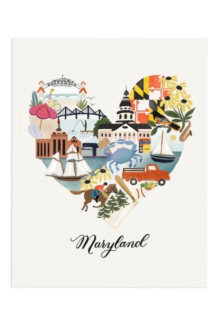 I Heart Maryland Print - 11x14