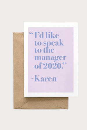 Speak To The Manager Card