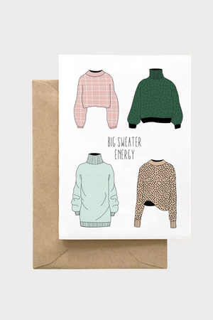 Big Sweater Energy Card