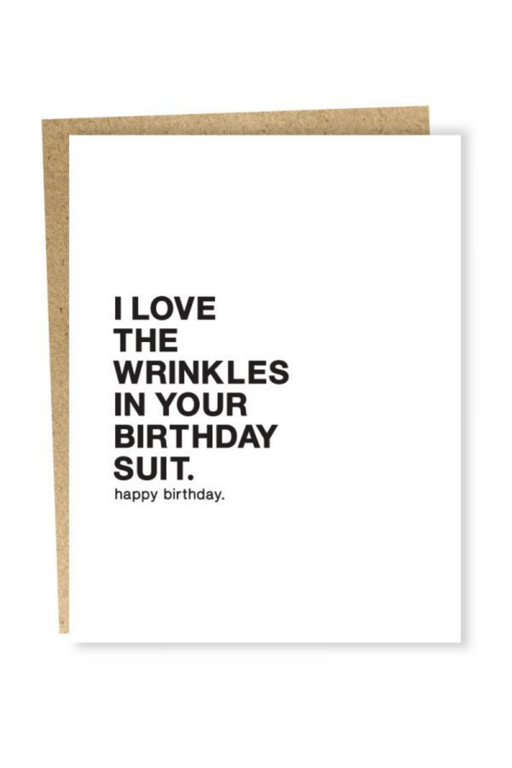 Make A Wish Birthday Suit Card