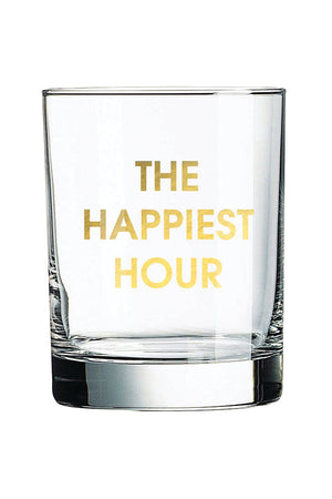 The Happiest Hour Rocks Glass