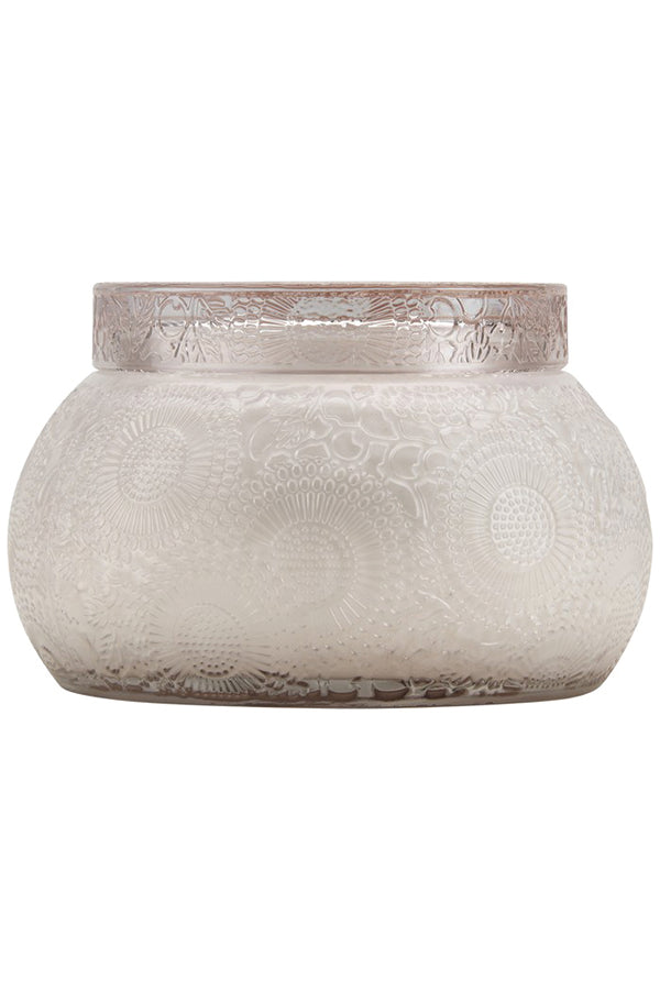 Voluspa Embossed Glass Chawan Bowl - Panjoree Lychee