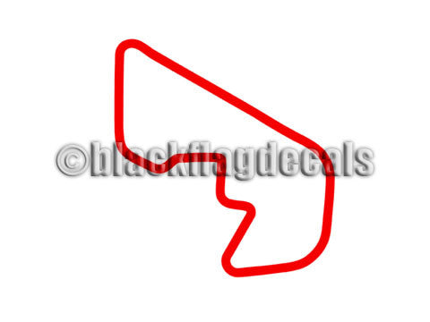 Brainerd Donnybrooke track map sticker