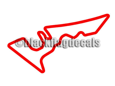 Circuit of the Americas COTA track map sticker