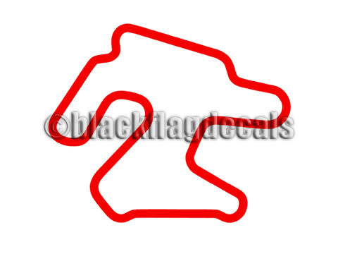 Chuckwalla CVR track map sticker