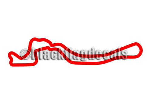 Driveway Austin Grand Prix course track map sticker