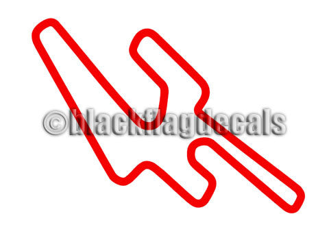 Eagles Canyon Raceway track map sticker