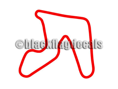 Hallett Motor Racing track map