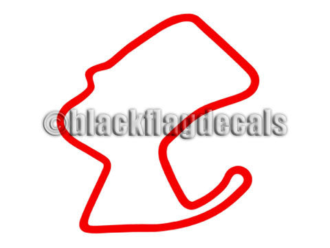 Mazda Laguna Seca track map sticker