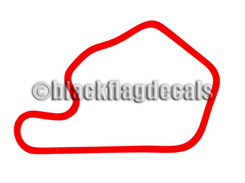 Lime Rock Park track map sticker