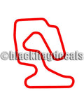 Miller Motorsports Park East track map sticker