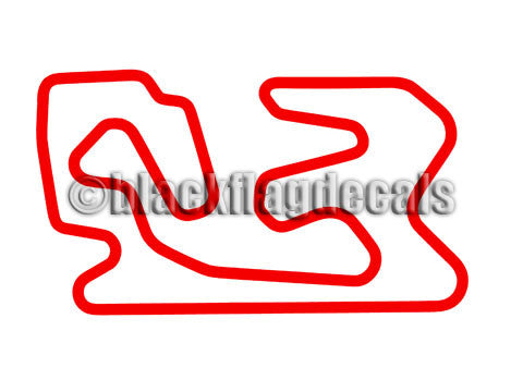 Miller Motorsports Full course track map sticker