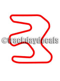 Miller Motorsports West track map sticker