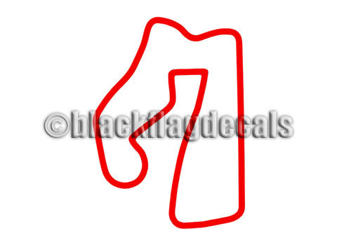 Road America road course track map decal – Black Flag Decals