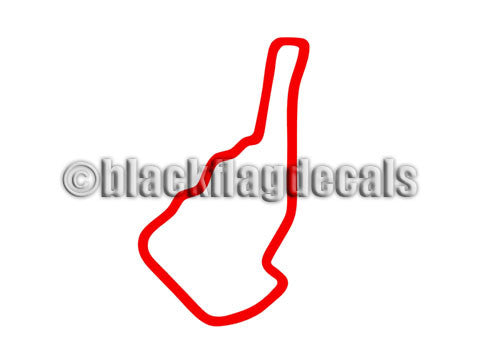 Road Atlanta track map sticker