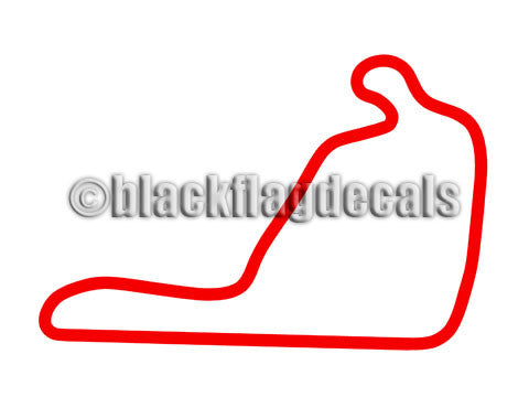 Summit Point circuit track map sticker