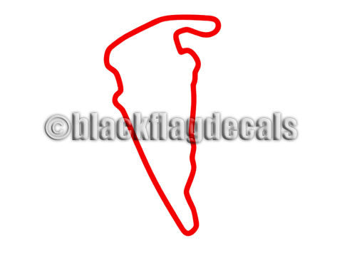 VIR track map sticker