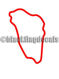 VIR Patriot course track map sticker