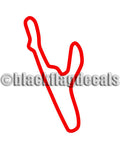 VIR South course track decals