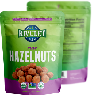 Organic Raw Hazelnuts by Rivulet Farm - 6  oz - Unsalted
