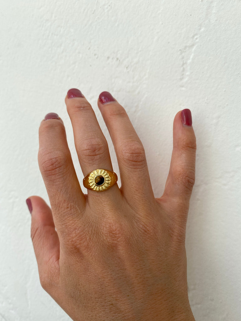 Tiger's Eye Beam Ring // Ready to Ship