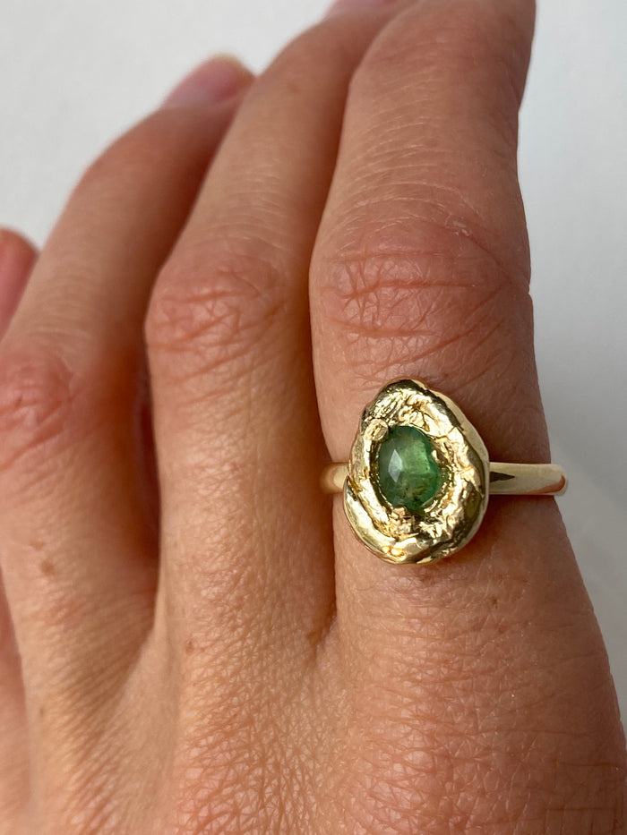 Asa Emerald Nugget Ring // Ready to Ship