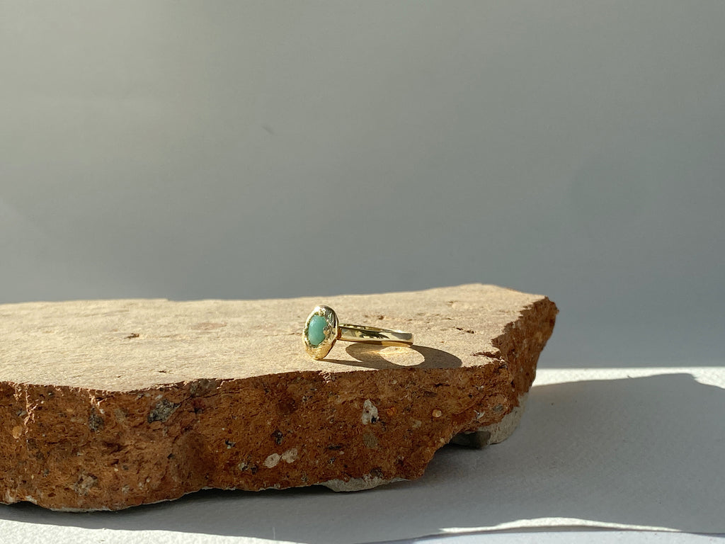 Isles Emerald Nugget Ring // Ready to Ship