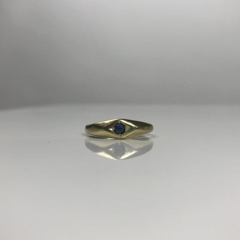 Inverted Sapphire Ring