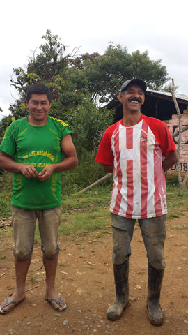 Don Santos (left) and Don Mardoqueo (right),live in San Pablo, Jaén. They are organic coffee producers and associates of CENFROCAFE. They also grow some of the best coffee in the country!